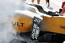Malaysia practice halted due to Magnussen fire