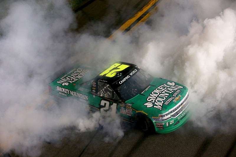 Sauter wins Daytona Truck opener as Bell flips wildly on last lap