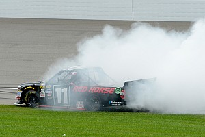 NASCAR Truck Interview Moffitt's win gives him new foothold in NASCAR after MWR's demise