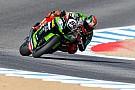 World Superbike Laguna Seca WSBK: Sykes leads Ducatis in red-flagged race, Rea retires