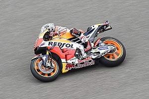 MotoGP Practice report Aragon MotoGP: Marquez tops FP3, him and Rossi among crashers