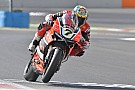 World Superbike Chaz Davies sets the best time on Friday at Magny-Cours