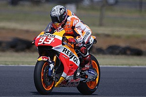 MotoGP Testing report Marquez leads crash-marred final day