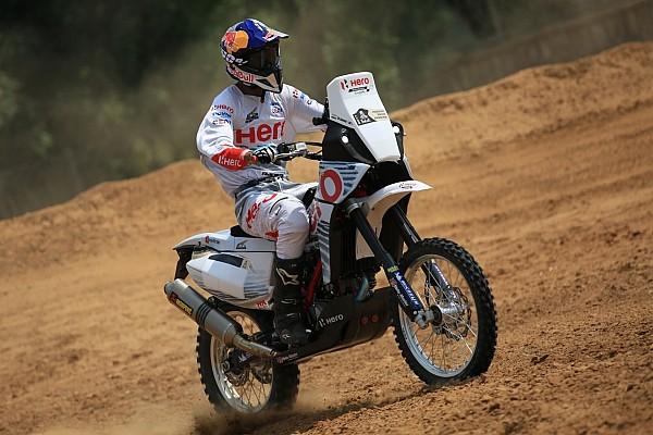 Dakar Breaking news Hero demonstrates Dakar bike in India