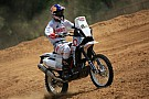 Dakar Hero demonstrates Dakar bike in India