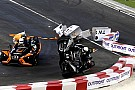 Wehrlein s'accroche avec Massa et part en tonneau!