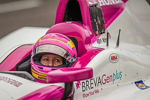 IndyCar Breaking news Pippa Mann crashes during her first qualifying attempt