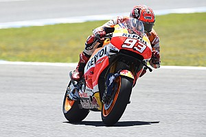 MotoGP Testing report Marquez leads Lorenzo on first day of in-season testing