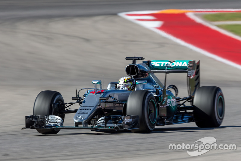 Hamilton (AL) United States  city images : Lewis Hamilton, Mercedes AMG F1 W07 Hybrid at United States GP