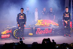 Daniel Ricciardo and Daniil Kvyat with the Red Bull Racing RB12 livery