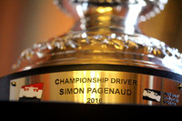 IndyCar Photos - The trophy of Simon Pagenaud
