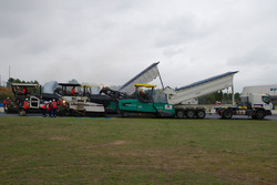 Track resurfacing of the Le Mans Bugatti Circuit