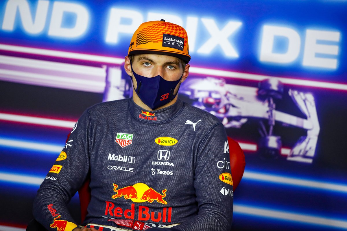 Max Verstappen, Red Bull Racing, 1st position, in the Press Conference