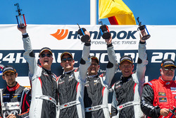 Podium: race winners #911 Precote Herberth Motorsport Porsche 991 GT3 R: Alfred Renauer, Robert Renauer, Daniel Allemann, Ralf Bohn