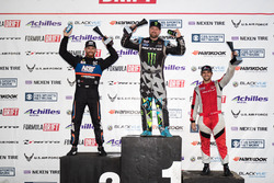 Podium: winner Vaughn Gittin Jr., second place Chris Forsberg, third place Alex Heilbrunn