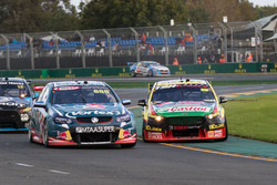 Chaz Mostert, Rod Nash Racing Ford and Craig Lowndes, Triple Eight Race Engineering Holden