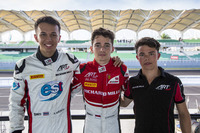GP3 Photos - Charles Leclerc, ART Grand Prix; Alexander Albon, ART Grand Prix and Nyck De Vries, ART Grand Prix