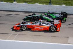 Juan Pablo Montoya, Team Penske Chevrolet, Conor Daly, Dale Coyne Racing Honda