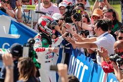 Race winner Tiago Monteiro, Honda Racing Team JAS, Honda Civic WTCC