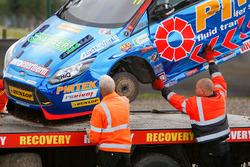 The car of Andrew Jordan, Motorbase Performance after the crash