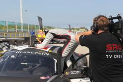 Winner main race Laurens Vanthoor, Frederic Vervisch, Audi R8 LMS, Belgian Audi Club Team WRT