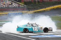 NASCAR XFINITY Photos - Race winner Denny Hamlin, Joe Gibbs Racing Toyota