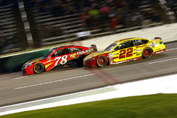 Martin Truex Jr., Furniture Row Racing Toyota and Joey Logano, Team Penske Ford