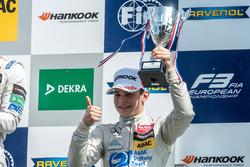 Podium, David Beckmann, kfzteile24 Mücke Motorsport Dallara F312 - Mercedes-Benz