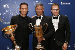 Sébastien Ogier, WRC champion, Fritz Enzinger, Vice President LMP1 Porsche Team, Andreas Seidl, Team Principal Porsche Team