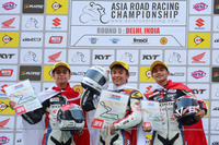 Asia Road Racing Championship Photos - Winner Hiroki Nakamura, second place Muhd Febriansyah, third place Koko Masahura
