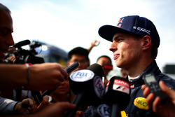 Max Verstappen, Red Bull Racing speaks with members of the media