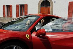 Kobe Bryant at Ferrari