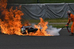 Peerapong Loiboonpeng bike in fire