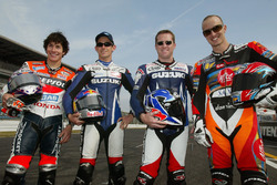 Nicky Hayden, Repsol Honda Team, John Hopkins, Team Suzuki, Kenny Roberts Jr., Team Suzuki, Colin Edwards, Aprilia Racing
