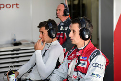 #8 Audi Sport Team Joest Audi R18 e-tron quattro: Loic Duval, Oliver Jarvis and Dr. Wolfgang Ullrich, Head of Audi Sport