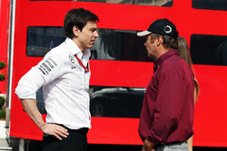 Toto Wolff, Mercedes AMG F1 Shareholder and Executive Director with Gerhard Berger