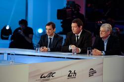 ACO president Pierre Fillon, WEC CEO Gérard Neveu, Jacques Nicolet
