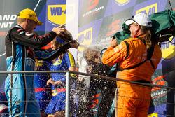 Podium: winner Scott McLaughlin, Garry Rogers Motorsport Volvo