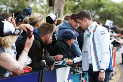 Paul di Resta, Williams Reserve Driver signs autographs for the fans
