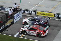 Start: #43 RealTime Racing Acura TLX-GT: Ryan Eversley, #05 Always Evolving Racing Nissan GT-R-GT 3: Bryan Heitkotter lead