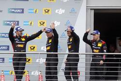 Podium:  third place #88 Haribo Racing Team-AMG, Mercedes-AMG GT3: Uwe Alzen, Lance David Arnold; Maximilian Götz, Jan Seyffarth
