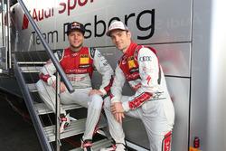 Adrien Tambay and Jamie Green, Audi Sport Team Rosberg
