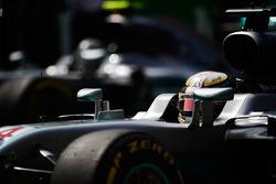 Lewis Hamilton, Mercedes AMG F1 W07 Hybrid and Nico Rosberg, Mercedes AMG F1 W07 Hybrid on the grid