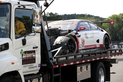 #25 BMW Team RLL BMW M6 GTLM: Bill Auberlen, Dirk Werner after the crash