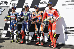 Polesitter Marc Marquez, Repsol Honda Team,second place Jorge Lorenzo, Yamaha Factory Racing, third place Andrea Iannone, Ducati Team