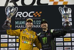 Team USA NASCAR Kyle Busch and Kurt Busch, runners up on the podium