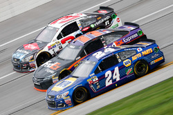 Austin Dillon, Richard Childress Racing Chevrolet, Denny Hamlin, Joe Gibbs Racing Toyota, Chase Elliott, Hendrick Motorsports Chevrolet
