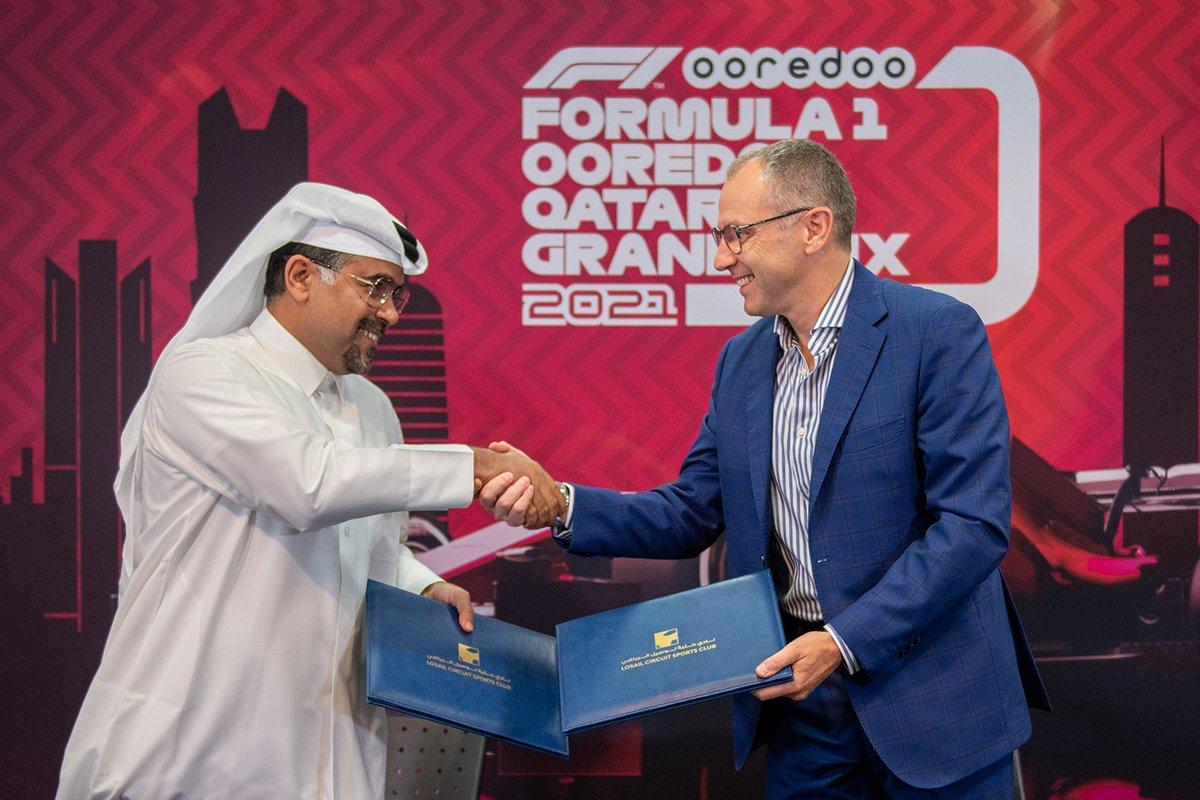 Abdulrahman Al Mannai, President Qatar Motor and Motorcycle Federation, Stefano Domenicali, President and CEO F1