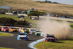 jamie Whincup, Triple Eight Race Engineering Holden runs wide