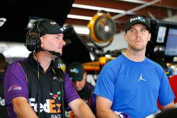 Denny Hamlin, Joe Gibbs Racing Toyota with his crew chief Mike Wheeler